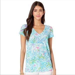 Lilly Pulitzer Etta top in what a lovely place